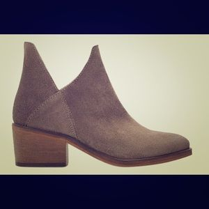 COMING SOON! ZARA Sz 7.5 Cut Out Suede Ankle Boots